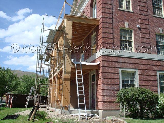 Build a balcony deck tile for Building balcony