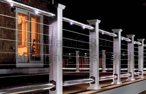 Cable railings build deck railings with stainless steel for Waterfront deck ideas