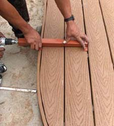 Curved board middle