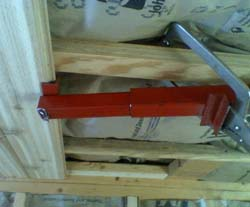 Installing cedar boards in ceiling