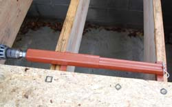Pul or push joists in line