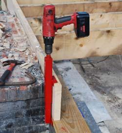 Pulling a sill plate