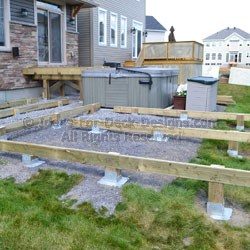 Ground Anchors Deck Footing Foundations Instead Of Concrete