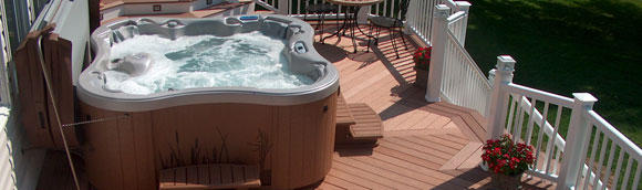 View of hot tub from right side
