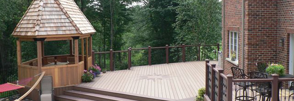 Expansive wood deck