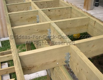 Joist blocking for alternate decking direction