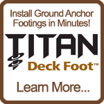 Titan Deck Foot Anchor