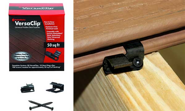 How versa-clip fasteners for decking work