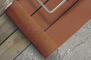 Applying new surface coating over concrete, composite or wood decking