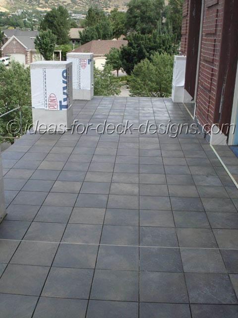 Finished tile deck job