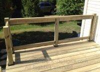 Wood rail and post frame