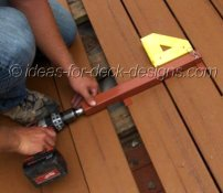 It's secure wherever you stop it allowing you freedom to fasten the board to the joist with top down, underside or hidden fasteners.