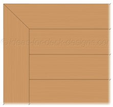 Deck surface with picture frame design