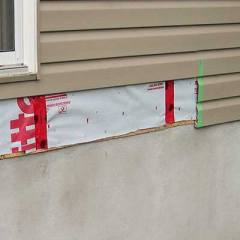 Remove siding on right side