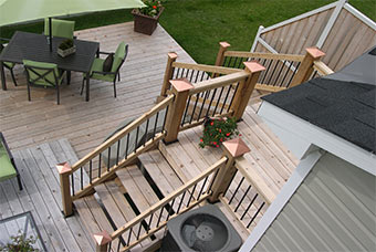 Foundation options for supporting a backyard deck.
