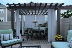 Pergolas make for perfect spaces on your deck.