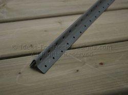 Deck fastening track