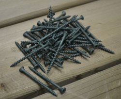 Flat head ACQ coated deck board screws