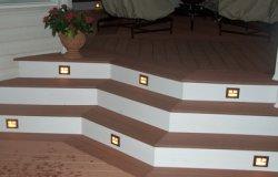 Stair riser lighting grates