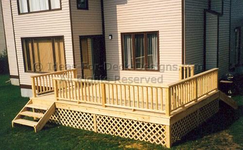 Classic wood railing