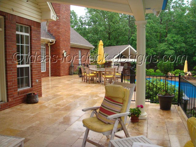A Paver Deck over wood frame