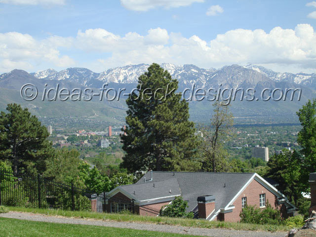 View of mountains near Salt Lake