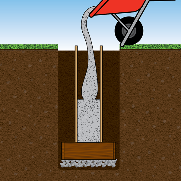 Pour cement into form in one continuous pour.