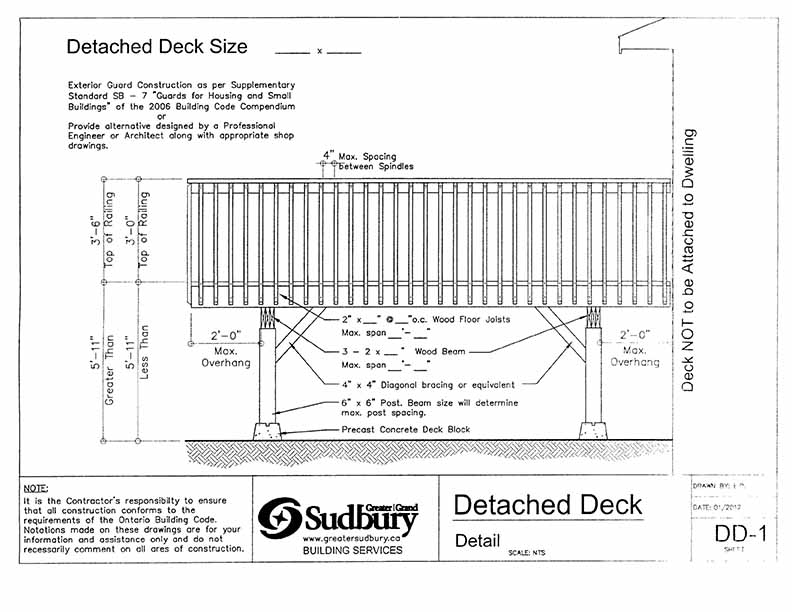 Height Freestanding Deck Ontario