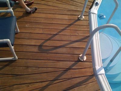Above Ground Pool Deck Post Spacing