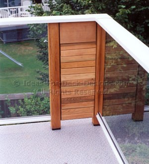 Cedar and alumunim with glass panels