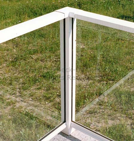 Aluminum frame and glass