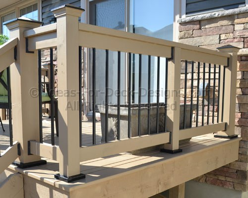Cedar posts, rails and aluminum pickets