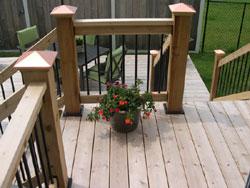 Porch rail posts using Titan post anchors