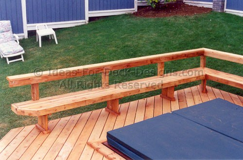 Using a pressure automatic washer to wooden deck railing bench plans ...