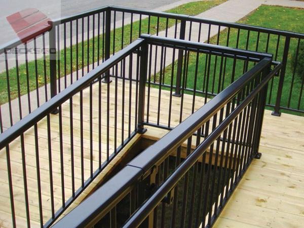 Aluminum Railing Around A 180 Degree Corner On An Access Ramp