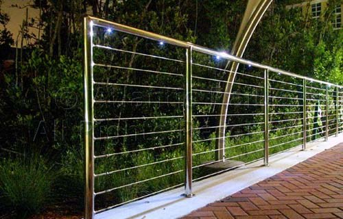 Modern metal railing design