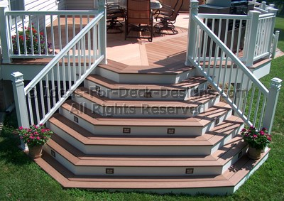 Bon Cascading Stair Case Connected To Deck