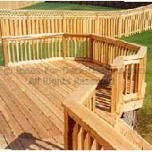 Traditional cedar lumber decking