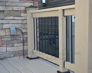 Pressure treated wood deck and rail