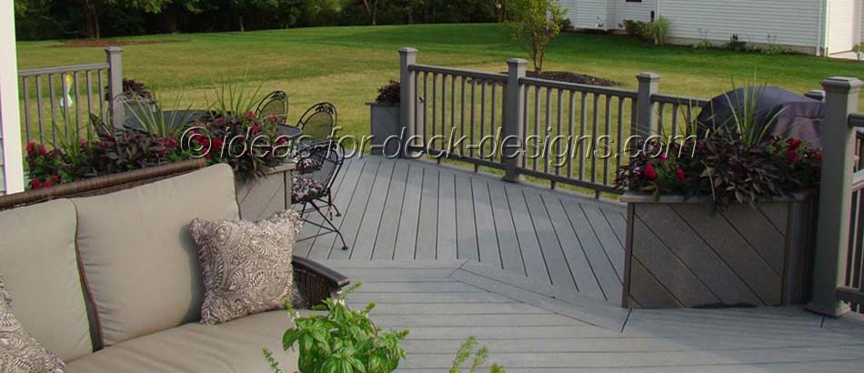 This deck is a great example of the kind of clean looking, low maintenance living space people hope to create when they choose a composite decking material