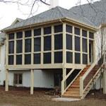 Four season covered deck
