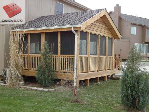 Rustic covered deck design for Rustic covered decks