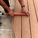 Stiff composite facsia boards or hardwood deck planking is no match for the precise controlled power of the Deck Devil.