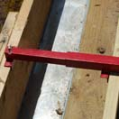 Pulling or pushing floor joists into precise line is easy!