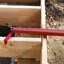 The joist adapter allows the Deck Devil to pull perpendicular boards together.