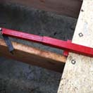 The joist adapter allows the Deck Devil to easily push heavy T&G sheething for a - no damage - precision fit.