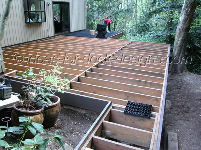 Wood deck pavers framing deck 16x16 deck material list