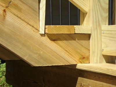 Deck Stairs Design Ideas white deck with staircase and glass balusters deck staircase design ideas in kitchen category Deck Stairs Improperly Installed