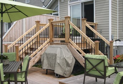 Cedar Deck With Dual Access From Top Deck