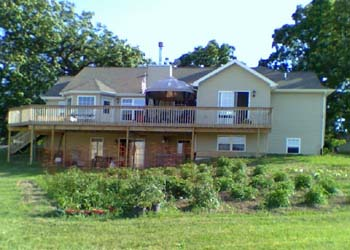Our Large Deck Across Back of House